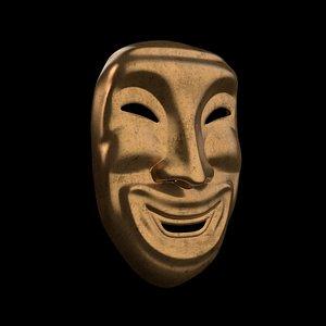 mask golden 3D model
