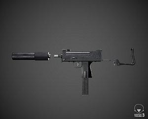 3D MAC 11 tommy-gun model