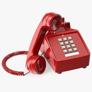 Bittel Antique Retro Telephone Off Hook 3D model