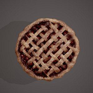 3D cherry pie model