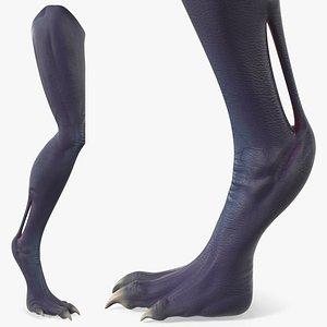 3D scary creature leg