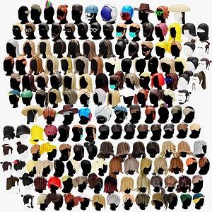3D model hair haircut stylized