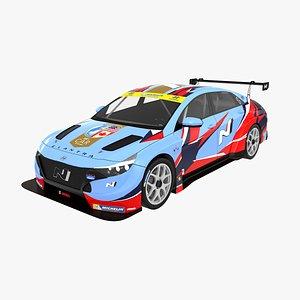 3D model Hyundai Elantra N TCR 2021