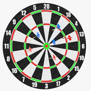 darts target 2 3D model