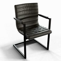 Modern Chair - Steel and leather