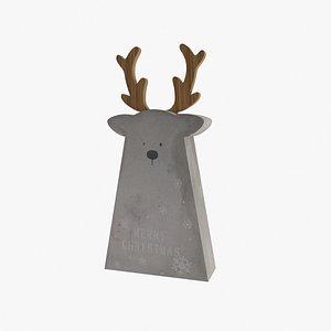 christmas moose 3D