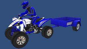 3D quad bike model