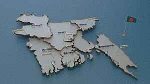 3D bangladesh state cities model
