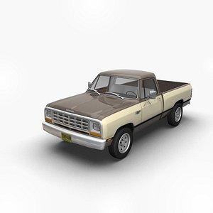 1981 RamRegCab 3D model