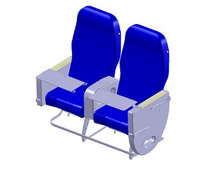 3D business class seating model