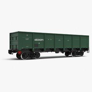 3D gondola car 12-132-02 uvz model