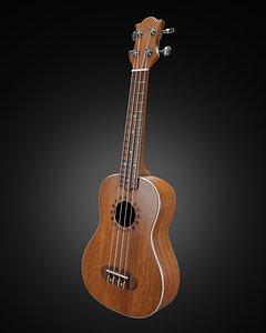 ukulele hawaii guitar 3D model