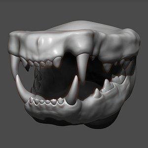 3D Cat Mouth ZBrush Sculpt model