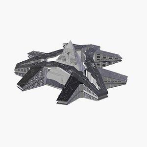 3d model 3d-printable kit hatak spaceship