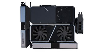 3D Nvidia GeForce RTX 3070 Founders Edition model