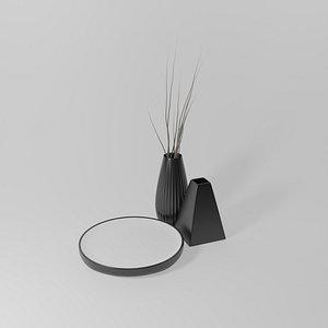 3D vase table model