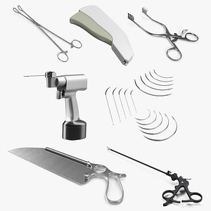 Surgical Medical Instruments Collection 4 3D model