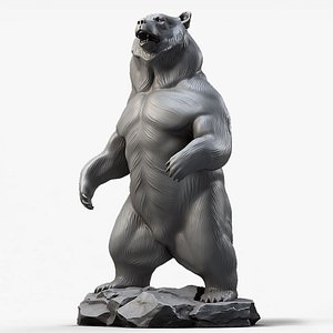 3D bear standing sculpture