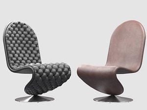 panton 1-2-3 lounge chair model