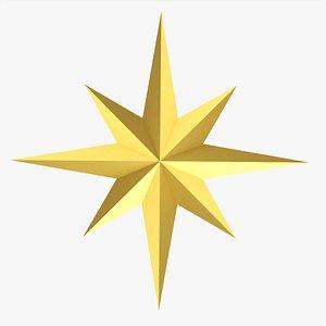 3D model Christmas gold star