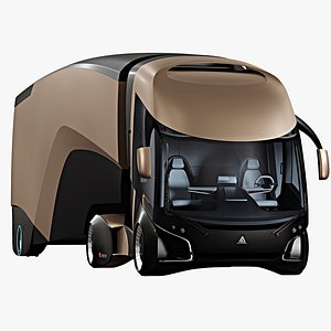 3D futuristic semi truck model