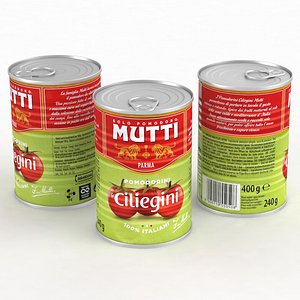 3D Food Can Mutti Cherry Tomatoes 400g 2021 model