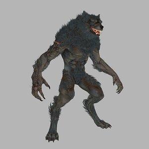 Crinos wolf V1 3D