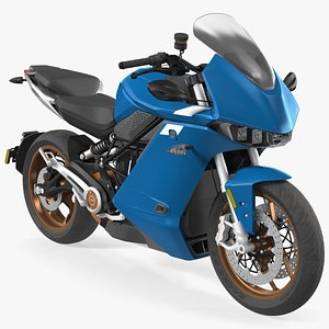 3D sr s electric motorcycle model