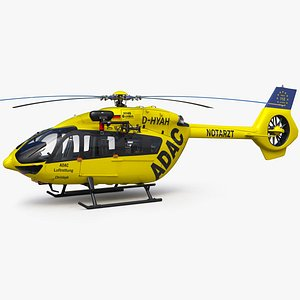 Airbus H145 Emergency ADAC Germany 3D model