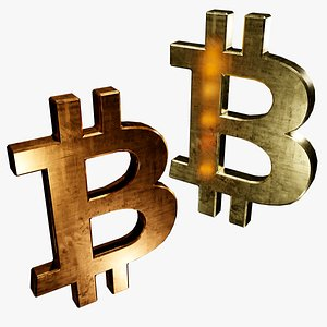 symbols copper gold btc 3D