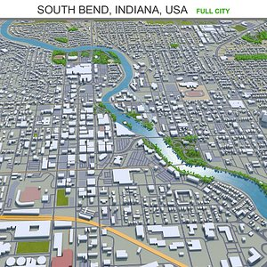 South Bend Indiana USA 3D model