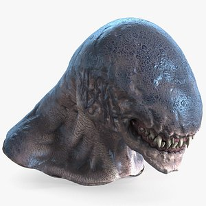 3D model monster creature head