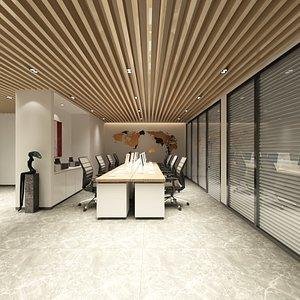 office interior 8 employees model
