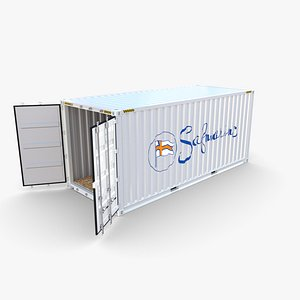 20ft Shipping Container Safmarine v1 3D model