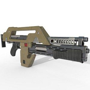 M41A Alien Pulse rifle 3D model