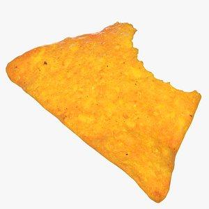 tortilla cheese cracker 01 3D model
