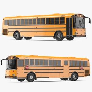 Thomas Saf T Liner School Bus Exterior Only 3D