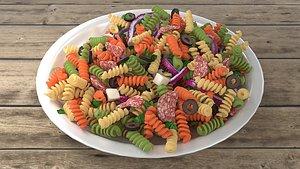 salad vegetable food 3D model