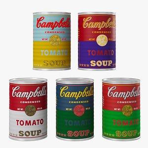 campbell soup 3D model