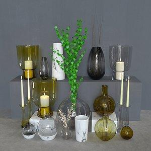 glass vases west 3D model