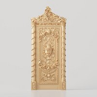 3D model of a classic baroque door | Dr-004