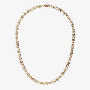 3D Chain Necklace NL011-0.9