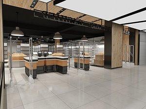 supermarket market 3D model