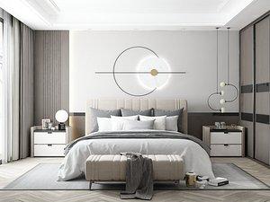3D model Modern Style Bedroom - 620