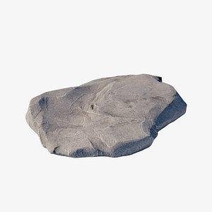 rock flat ground 3D