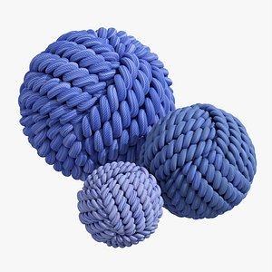 Fabric balls decoration 3D model