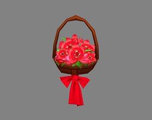 Cartoon flower basket 3D model