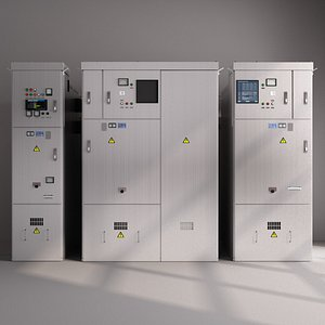 3D Power Distribution Box-Electric Meter box-Transformer