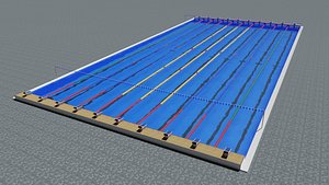 competition olympic pool 3D model