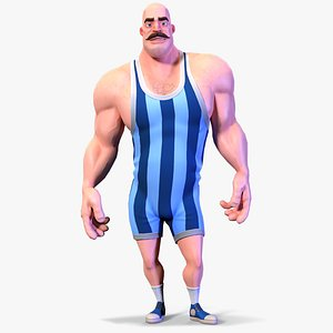 Stylized Rigged Athlete Man model